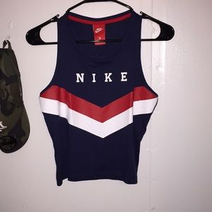 Nike Navy Red and White tank top